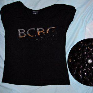 💝4/$15 womens Large black BCBG tee shirt soft